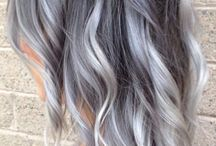 Balayage grey hair