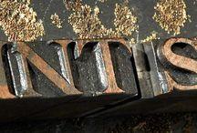Letterpress Type / Letterpress metal and wooden type