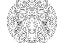 Adult Coloring Pages for Pet Lovers / Coloring pages for adults with cats, dogs, and other animals.