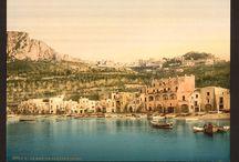 CARTOLINE D'ITALIA / Cartoline vintage dai luoghi più affascinanti d'Italia come sfondi per la Collezione Estate 2012.