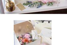 Короб с цветами