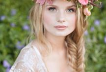 Bridal headpieces and hair / Hair styles, headbands, floral crowns