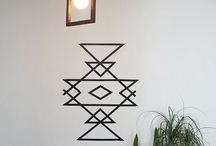 Tape wall art
