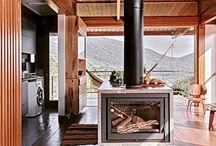 Casa entre árvores / Casa pré-fabricada em madeira laminada Florianópolis-SC