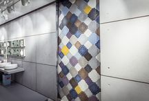IVANKA: FLASTER / Flaster concrete is floor and wall covering fostered from a traditional motive. Made from fiber reinforced high performance IVANKA concrete, these tiles are available both for exterior and interior usage with an R11 slip rating. http://www.stratatiles.co.uk/products/ivanka/flaster/
