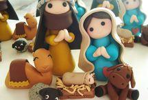 Nativity sculpey