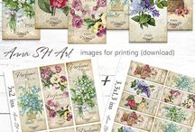Flowers for decoupage