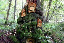 Fairy garden for front tree / by Amanda Parsons