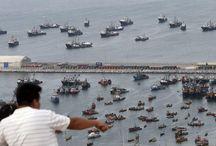 Corte de La Haya definió frontera marítima entre Perú y Chile / La Corte Internacional de Justicia de La Haya decidió que la frontera marítima entre Perú y Chile se inicie en el hito número 1 y se proyecte en paralelo hasta las 80 millas marinas, punto en el que trazó una línea equidistante.