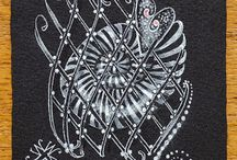 Zentangle black on white