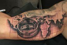 Tatuaggi tema mappa