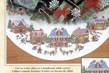 Christmas Tree Skirt Cross Stitch Pattern