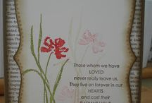 Sympathy cards / Different sympathy cards made using Stampin Up stamp sets or papers.