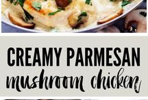 Recipes / Chicken, mushroom and Parmesan
