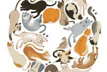 ilustração, animais