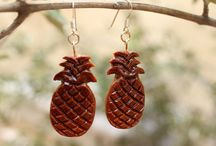 Cosmizi Avocado Stone Earrings / A board about beautiful earrings from avocado stones!