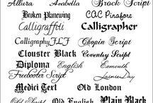 Monograms,lettering ideas  / by Lynn Brown
