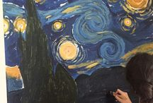 Me / Van Gogh, Vincent Van Gogh, Starry Night