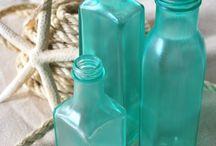 Beach/sea glass bottles