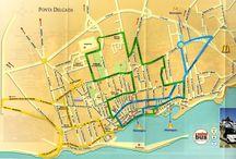 Ponta Delgada mapa mesta