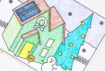Holiday Coloring Contest / Share your completed coloring page with us and you could win! Get your official coloring entry form today!   Winners will receive $20 gift card on January 5, 2015.  / by The Neighborhood