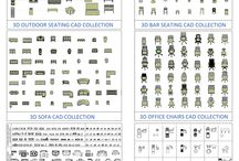 2D and 3D seating bundle / We have this CAD collection of 2D and 3D SEATING BUNDLE, 6 collections for the price of 3!