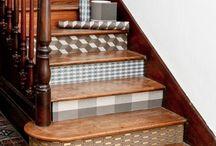 papier peint -escalier