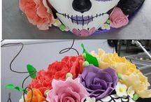 Sugar Skull Cakes