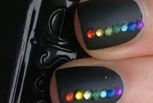 Rainbow Nail Art / by Rose Stumbaugh