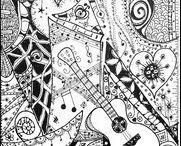 Adult colouring activities