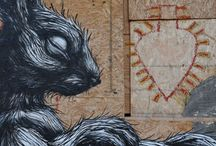 ROA by WIDEWALLS / ROA is the pseudonym of a Belgian graffiti artist best known for his unique portrayal of large scale urban wildlife, disquietly cohabiting city streets, hand painted in his distinctive black and white style.