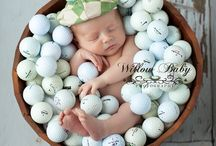Newborn Sports Themed Photography / Newborn photography with sports themes