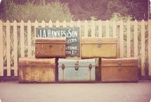 vintage luggage / by Design Quixotic