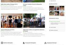 Diseño Web / Captura de pantalla de algunos trabajos realizados.