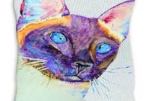 Malika Pet Art - Throw pillows / #malikapetart #love #dog #puppy #beagle #art #arabianhorse #horses #beagle #whippets #greyhound #boxer #rottweiler #dachshund #kelpie #dalmatian #bassethound #staffordshirebullterrier #cat #throwpillows #cushion #siamesecats #onlineboutique #cat #onlineshop #onlineart #homedecor #home #office #petportrait #onlineshopping #onlineboutique #fashion