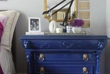 Blue gold bedroom