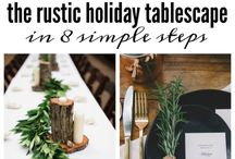 Holidays / Rustic Holiday parties