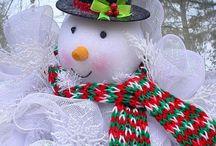 boneco de neve de bola isopor
