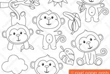 Embroidery patterns - animals / animals of all shapes and sizes