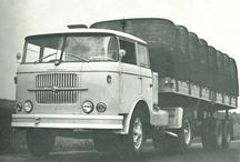 ŠKODA 706 ŘadA RT: tahače a  Hasičské vozy / NAKLADNE AUTOMOBILY VYRABANE V ČSSR