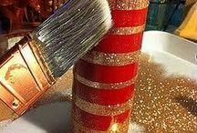 Decorazioni fai da te / #decorating #candels # natale
