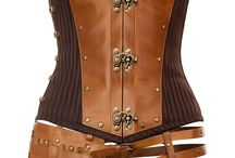 Leather! / leather corsets baby! steel boned awesomeness