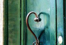 Tür und Griffe