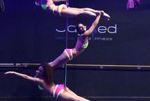 Pole Dance Doubles and Group Pics / Pole Dancing as pairs and groups