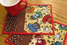 Mug rugs / Patchwork