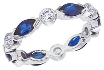 Favorite Sapphire Rings / Rita Fusaro out of Connecticut - 206-869-6295 - would be beautiful in 14K white gold too:)