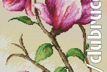 Haft Krzyżykowy - Magnolia