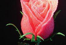 květiny z korálků