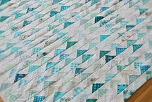 Flying geese and triangle quilts