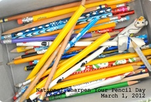 National Sharpen Your Pencil Day / Add your pencils!